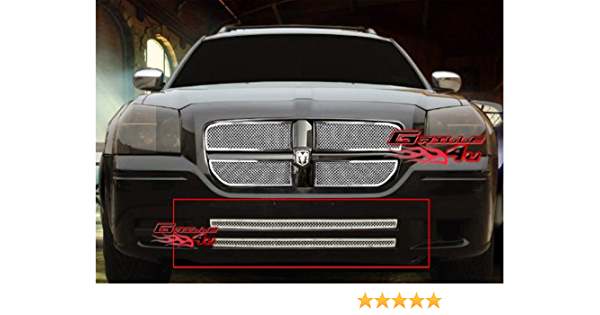 APS Compatible with 05-07 Dodge Magnum Lower Bumper Stainless Mesh Grille Insert N19-H61357D