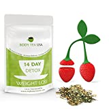 TEATOX 14 Day Detox Tea for Weight Loss and Flat Tummy - Skinny Detox Tea Colon Cleanse Tea by Body Tea USA