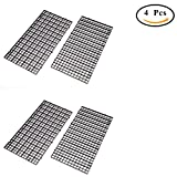 Ioffersuper 4 Pcs Grid Divider Tray Egg Crate Louvre Aquarium Fish Tank Bottom Isolation,Black