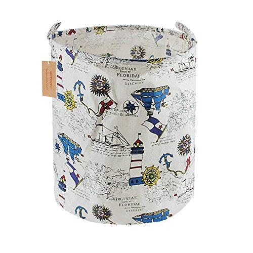 Nanle Manijas plegables de la cesta de almacenamiento, Elegante bolsa de cestas de almacenamiento de ropa de lavandería de...