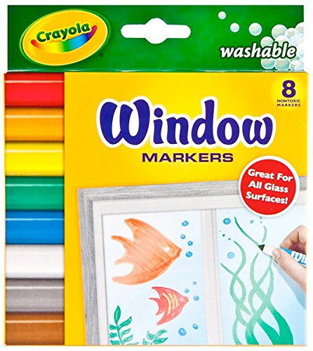 Crayola 58-8165 Washable Window Markers 8 Count]()