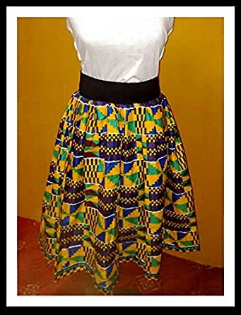 7ab112b10c Image Unavailable. Image not available for. Color: Authentic African Ankara  Skirt