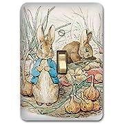 Peter Rabbit Metal Light Switch Plate Cover Bunny Nursery Home Decor 623