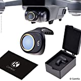 PL Filter for DJI Spark - Includes a CamKix Polarizing Filter (PL), a Filter Storage Box and a CamKix Cleaning Cloth - Prevents Reflections in Water / Glass - Offers Deeper Color and Tones