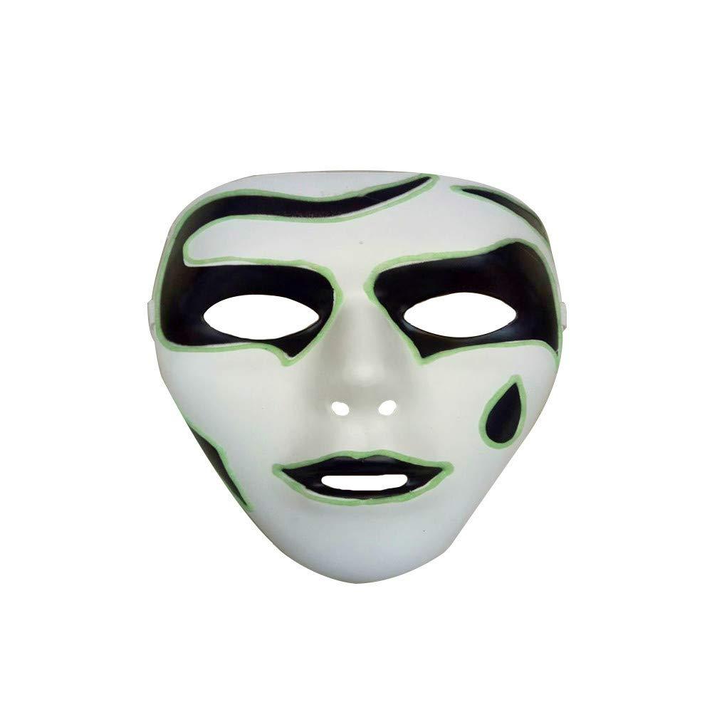 Clearance Skull Full Face Horror Halloween Luminous Mask,Ideal for Christmas Costume Party (B)