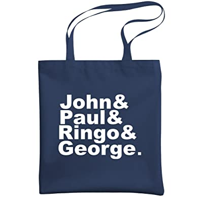 - JOHN & PAUL & RINGO & GEORGE - tribute - Heavy Duty Tote Bag, Navy