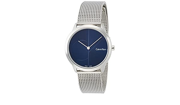Amazon.com: Calvin Klein K3M2212N Minimal Blue Dial Laides Watch: Calvin Klein: Watches