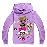 Dgfstm Teen Girls Spring Autumn Long Sleeve Hoody T Shirt Inspired Sweatshirt (purple1, 140(9-10years))