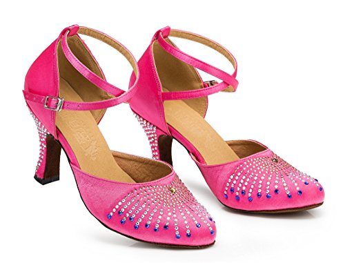 Miyoopark , Damen Tanzschuhe , violett - Purple-8cm heel - Größe: 35