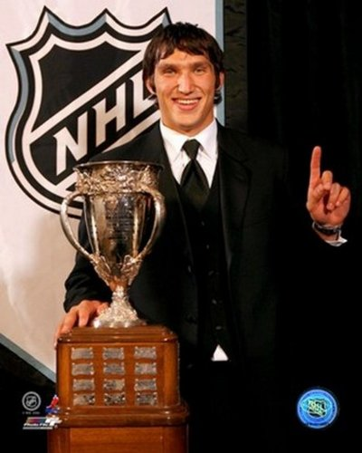 Alexander Ovechkin With the 2006 Calder Trophy Photo Print (8 x 10)