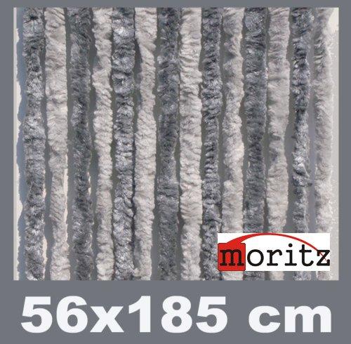 Moritz Cortina de tejido tipo chenille, mosquitera, 56 x 185 cm, 14 hilos