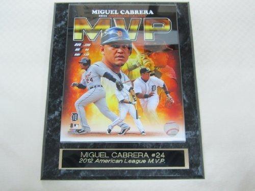 Tigers Miguel Cabrera Collector Plaque #1 w/8x10 Color Photo BACK to BACK MVP