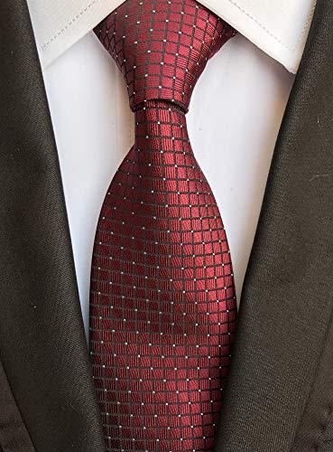 Vinesen Corbata de cuadros de tartán para hombre - Rojo - talla ...