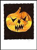 836 Scary Pumpkin Handmade Greeting Card