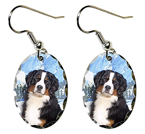 (Canine Designs Bernese Mountain Dog Scalloped Edge Oval)