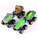 Winkey Funny Kids Toy Car,4PC New Children's Day Gift Toy Dinosaur Model Mini Toy Car Back Of The Car Gift