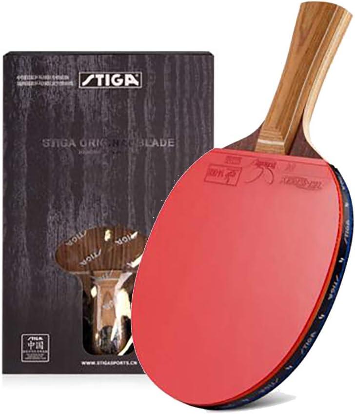 JWD HOME Raqueta De Tenis De Mesa De 7 Capas Recta/Horizontal, Bate De Tenis De Mesa Ofensivo, Raqueta Profesional