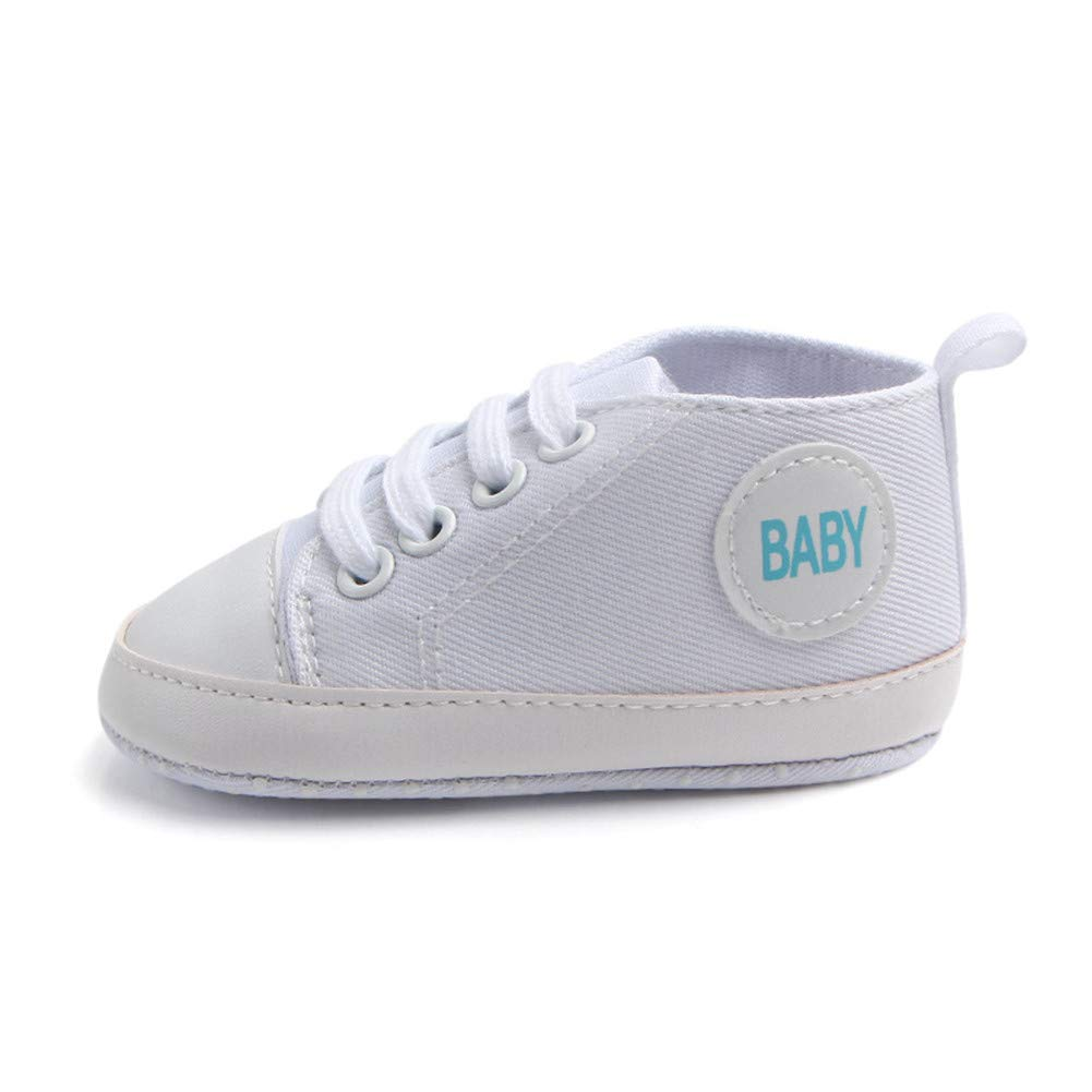 Femizee Newborn Baby Shoes Infant Boys Girls Soft Canvas Crib Dress First Walkers Sneakers