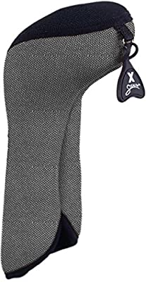 Stealth Club Covers 26180INT Fairway Wood ID 7-9-X Golf Club Head Cover, Silver Tweed/Black from Stealth Club Covers
