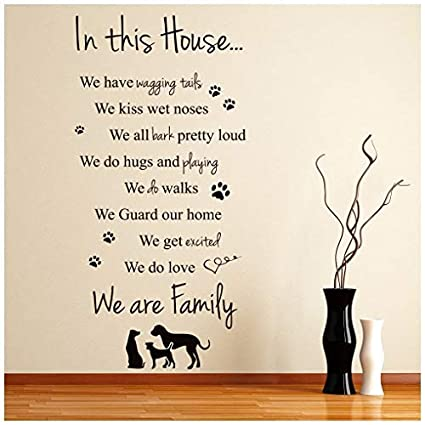 Amazon com: Celeste decal banytree in This House Dogs Family