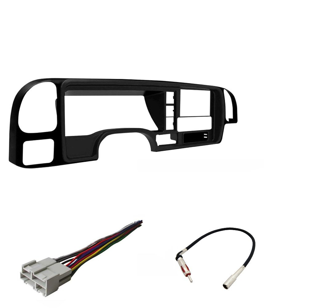 1995-2002 GM FULL SIZE TRUCKS & SUV Double DIN Dash Kit Combo With Wiring Harness And Antenna Adapter