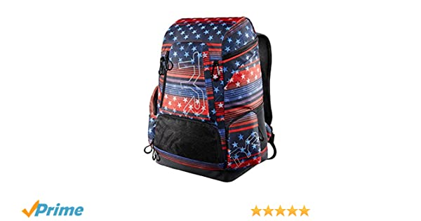 Amazon.com: Tyr USA Print Alliance 45L Backpack Red/White/Blue: Sports & Outdoors