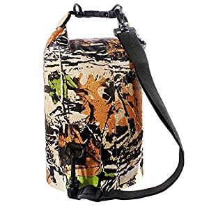 Dry Bag Sack, Waterproof Floating Dry Gear Bags for Boating, Kayaking, Fishing, Rafting, Swimming, Camping and Snowboarding (Camo1, 10L)