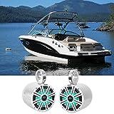 2 KICKER 45KM84L 8' 600 Watt Marine Boat Wakeboard Tower Speakers w/LED's KM8