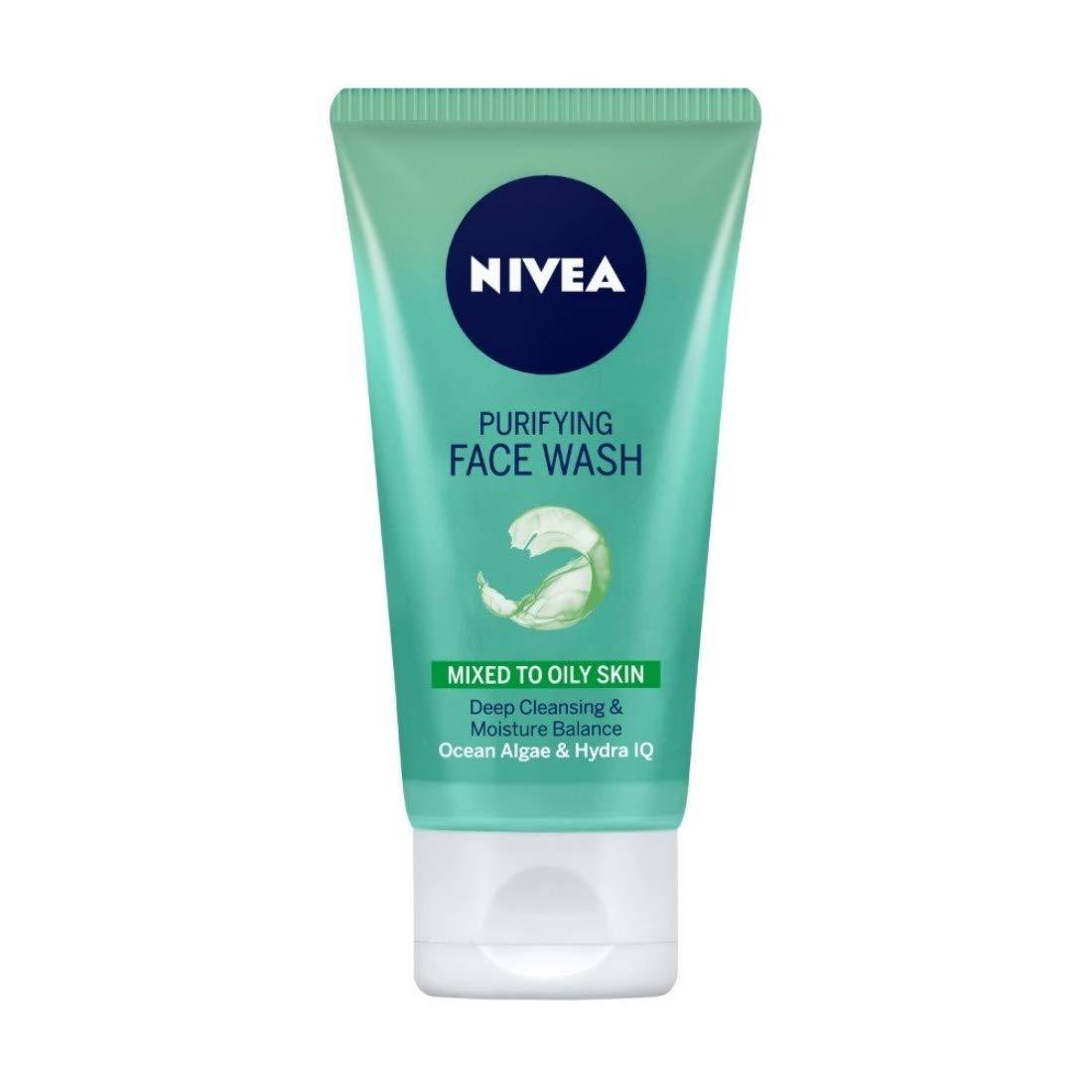 NIVEA Face Wash, Purifying With Ocean Algae & Hydra HQ, 150ml