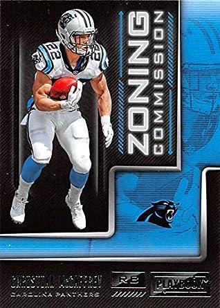 2018 Panini Playbook Zoning Commission  19 Christian McCaffrey Carolina  Panthers NFL Football Trading Card 6db13dfc9