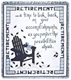 Retirement A Gift To Remember Retiring Goodbye Afghan Throw Blanket 48'' x 60'' USA Made