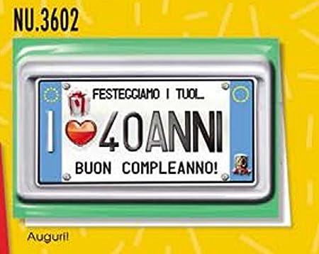 Tarjeta Felicitación cumpleaños 40 años una placa para tus ...