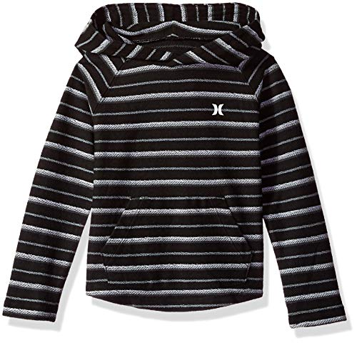 (Hurley Boys' Toddler Pullover Hoodie, Black Striped 2T)