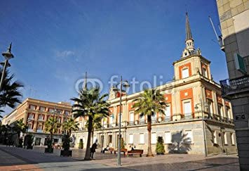 Plaza de la constitución, Ayuntamiento, Huelva, España (76939082), madera 3 mm, 40 x 30 cm: Amazon.es: Hogar