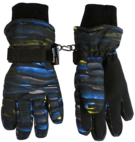 NIce-Caps-Kids-Cold-Weather-Waterproof-Camo-Print-Thinsulate-Ski-Gloves