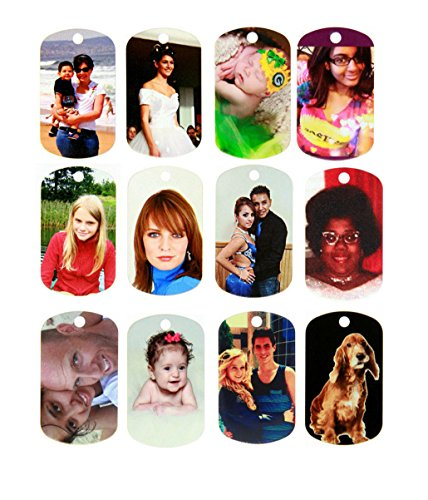 - Double Sided Full Color Custom Personalized Photo Dog Tag Picture Pendant