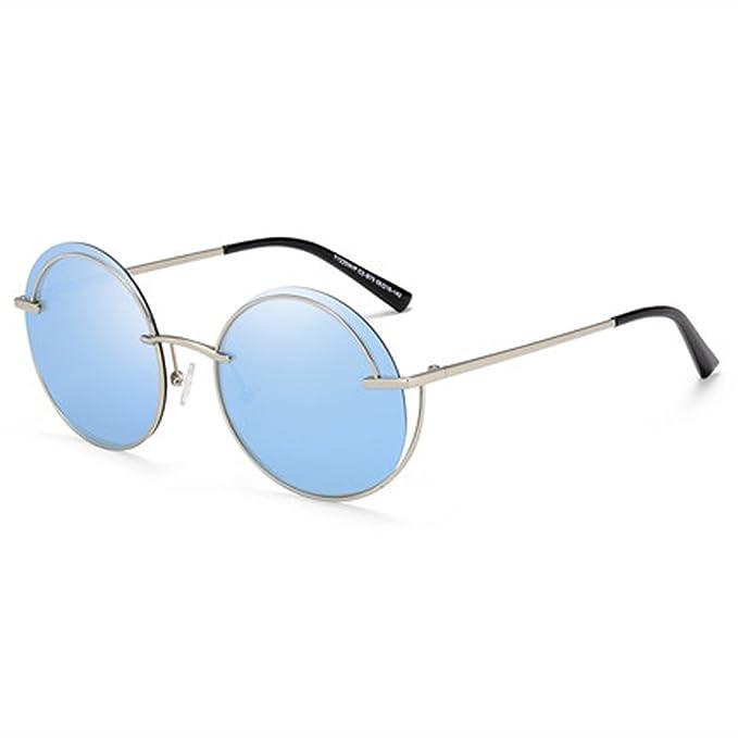 Gafas de sol polarizadas Gafas de sol redondas de la personalidad Gafas de la vendimia Cara redonda Gafas finas Polarizador retro cómodo, B: Amazon.es: Ropa ...
