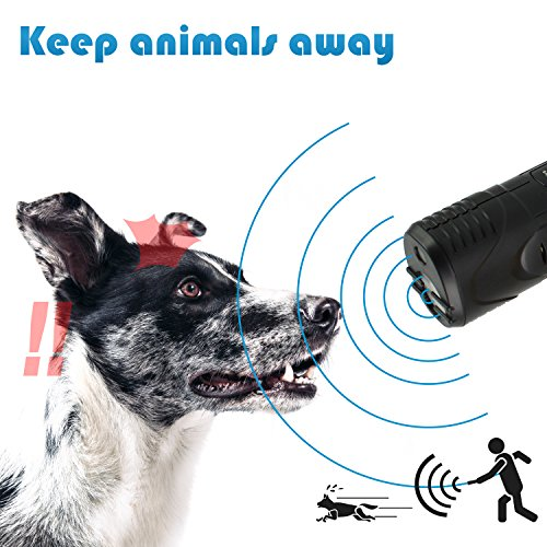 Apesto Portable Edition, Electronic Dog Repellent and Trainer with LED Flashlight/Powerful Ultrasonic Dog Deterrent and Bark Stopper + Dog Trainer Device + Built in Alarm Sound System, pet Gentle (Quiet Dog The Gentle Shush For Dogs)