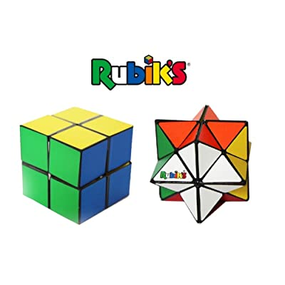 Rubik's Magic Star 2-Pack Gift Set; 3D Geometric Transformation Puzzle Toys, Stress & Anxiety Relief, Brain Teaser, Addictive Fidgets For 4+ Kids, Office or Travel, Smooth Surface & Irresistible Touch: Toys & Games