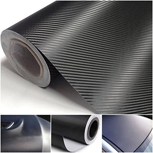 1-Sheet Superior Popular 3D Carbon Fiber Car Stickers Roll Decor Auto Wrap Labtop Cover Size 20