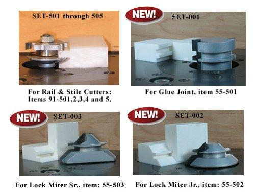 Set-up block for 91-505 Shaker Rail & Stile Bit Set