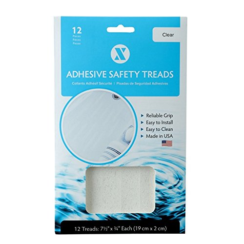 SlipX Solutions Adhesive Bath Safety Treads Adds Non-Slip Traction to Tubs, Showers, Pools, Boats,...