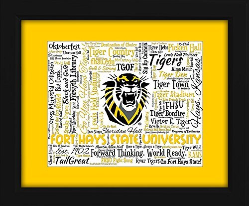 Fort Hays State University 16x20 Art Piece - Beautifully matted and framed behind glass (Hays State Tigers)