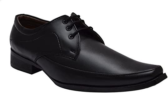 Black Synthetic Leather Formal Shoes