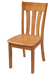 HOMRanger Household Solid Wood Dining Chair Set of 2,Modern Simple Armless Back Side Chair Assembly Kitchen Bedroom Lounge Patio Dining Stool-2 43x42x90cm(17x17x35inch)