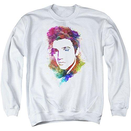 Elvis Presley - Watercolor King - Adult Crewneck Sweatshirt - - Elvis Sweatshirt
