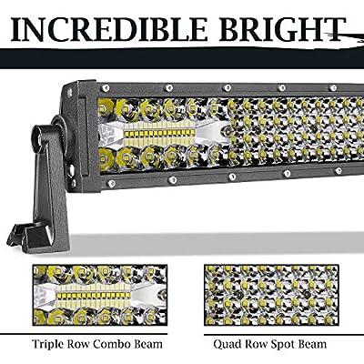 LED Light Bar Wayup 30 Inch 230W Spot Flood Combo Off Road Lights LED Driving Light LED Work Lights Quad Row & Triple Row Light Bar for Trucks, Jeep, RZR, UTV: Automotive