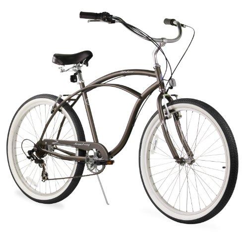 Firmstrong Urban Man Seven Speed Beach Cruiser Bicycle, 26-Inch, Matte Grey (Cruiser Bikes 7 Speed)