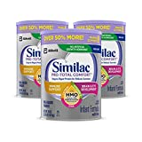 Similac Pro-Total Comfort Infant Formula OPTI-GRO, Non-GMO, Easy-to-Digest, Gentle Formula, with 2'-FL HMO, for Immune Support, Baby Formula, Powder, 36 oz, 3 Count