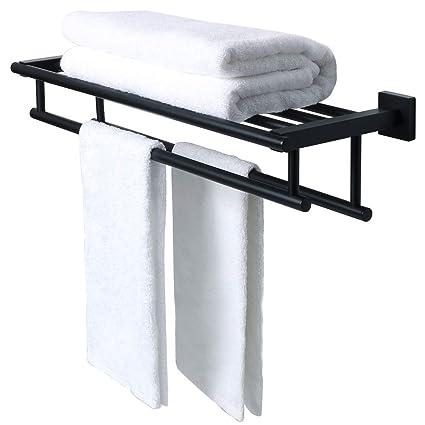 SAYAYO Toallero para toallas Toallero con 2 barras para la pared Montado en la pared 24